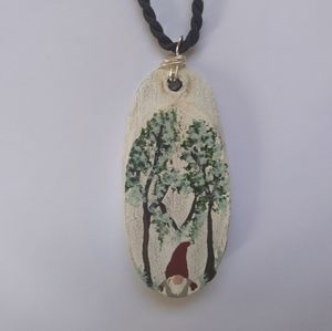 A Home For A Gnome Hand Painted Necklaces